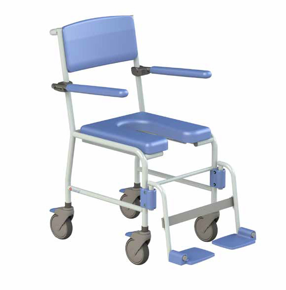 Time Mobile Shower-Toilet Chair [with footrests]